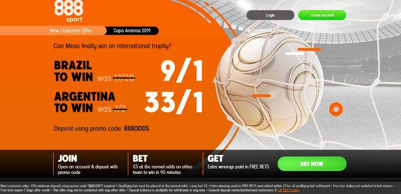 888sport 33/1 Argentina Offer