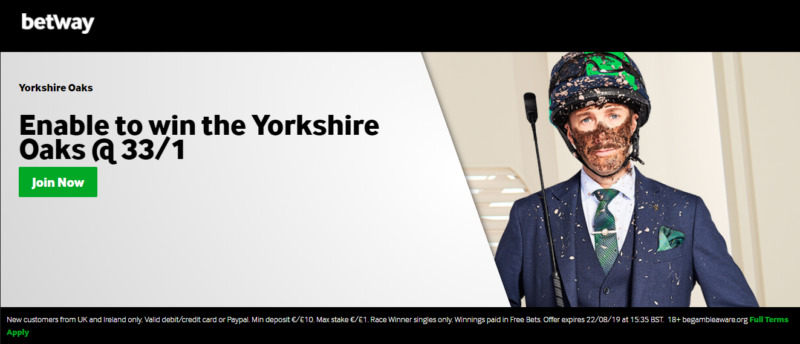 Betway Enable offer: 33/1 to win the Yorkshire Oaks on 22nd August 2019