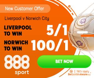 Norwich 100/1 888sport Offer