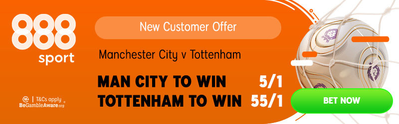 888sport 55/1 Spurs v City Offer