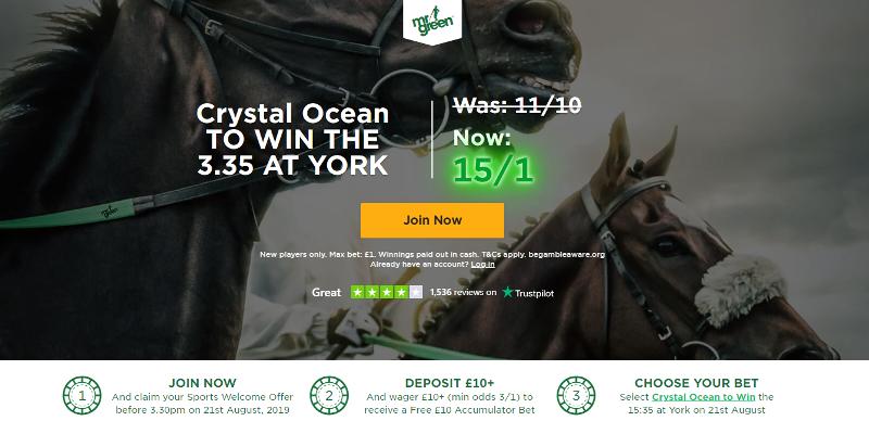 Mr Green 15/1 Crystal Ocean Offer