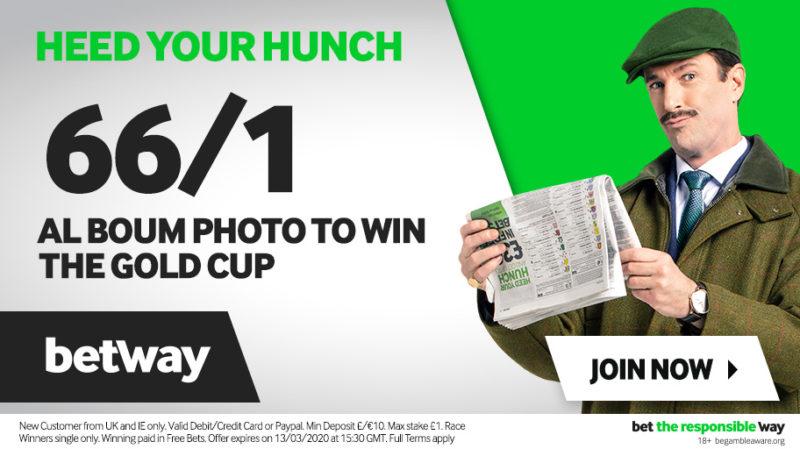 66/1 Al Boum Photo Betway Gold Cup Enhanced Odds Offer